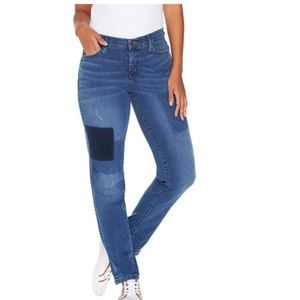 Isaac Mizrahi Live! Removed patch jeans 10